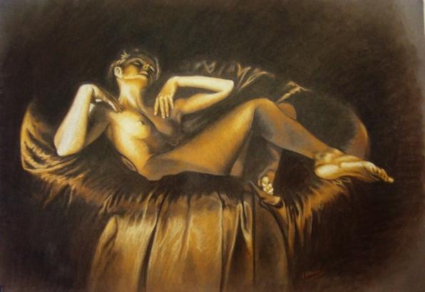 Desnudo en ocres