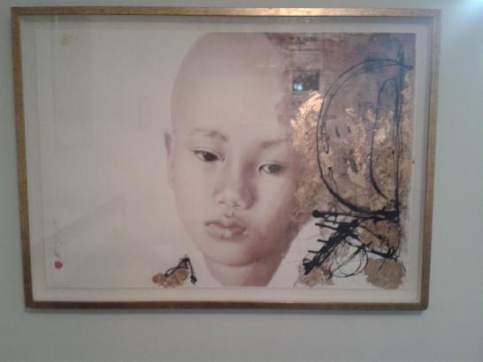 Cuadro étnico de 100x64 pintor Alejandro Hermann ( INJUSTICIA)