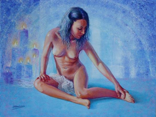 Desnudo de las velas