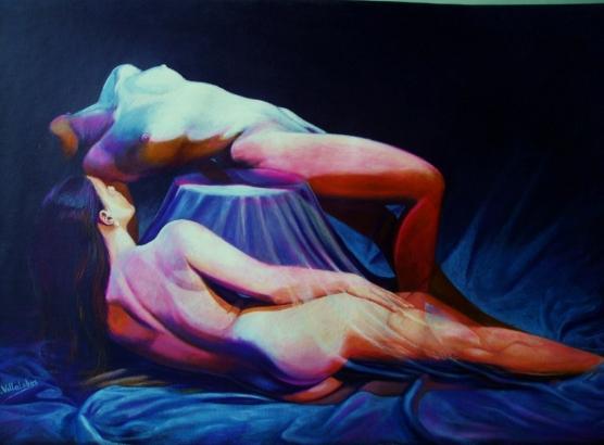 Desnudos en azules