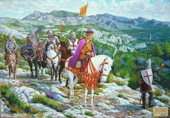 El rey Jaime I en los montes de Castellón durante el asedio a Burriana