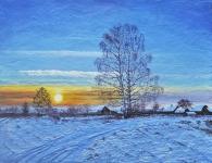 Atardecer del invierno
