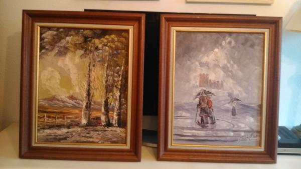 cuadros al oleo paisajes castellanos de Fausto Palencia ( pintor fallecido) oleo