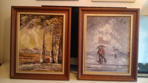 cuadros oleo pintor Fausto palencia. Ya fallecido.