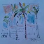 Las palmeras nocturnas