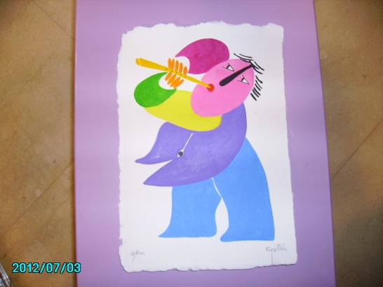 Grabado de Ripolles Flautista