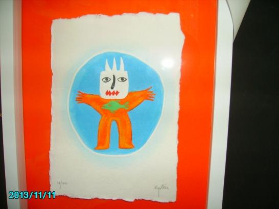 Grabado de Ripolles figura(R )naranja
