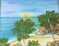 Las palmeras y el mar