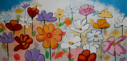 Cuadros flores apaisados y verticales
