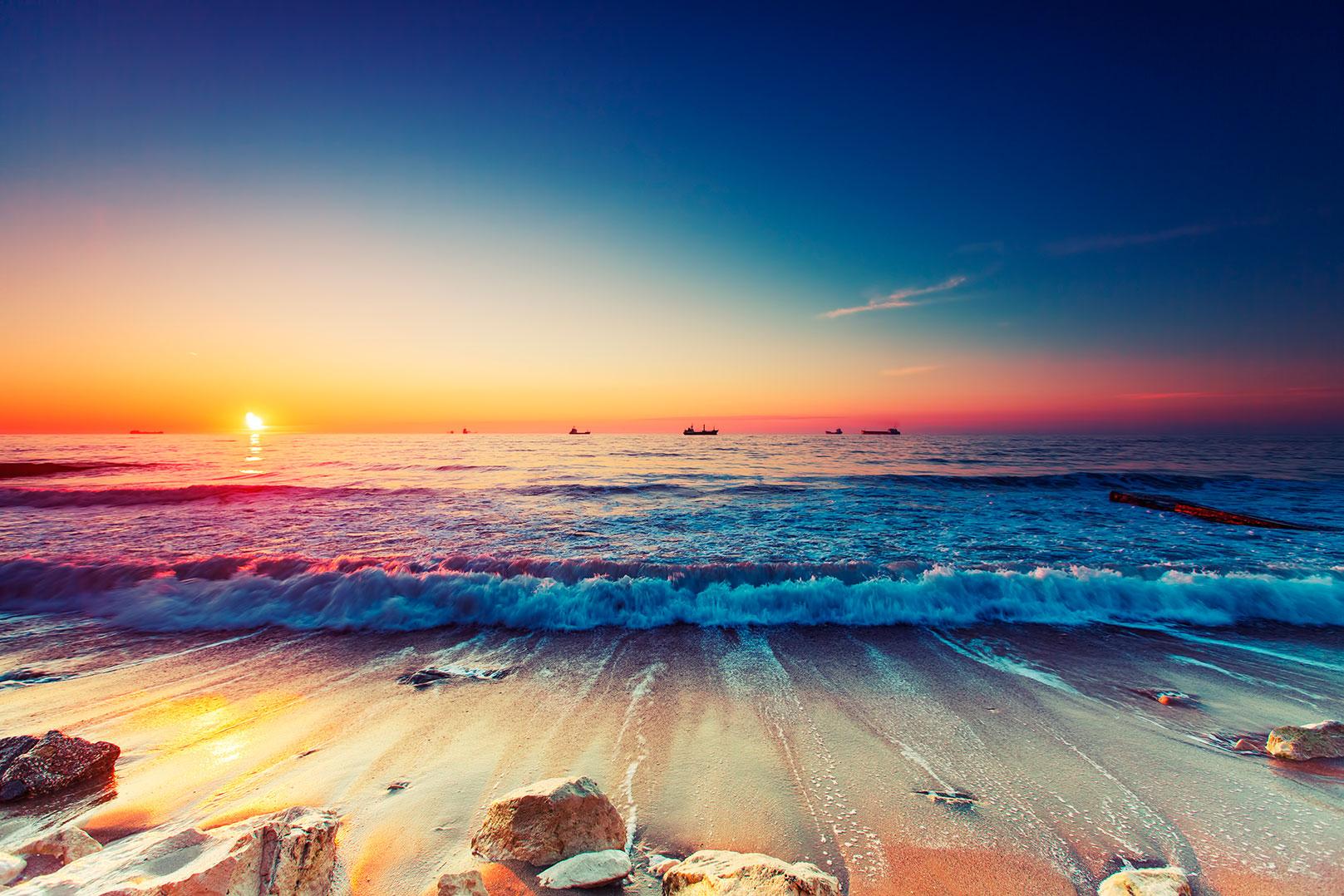 Cuadro atardecer en la playa bfl62374288 - Cuadros tenerife ...