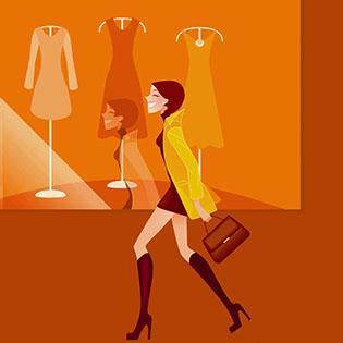 Cuadro chica shoping (bme085004)