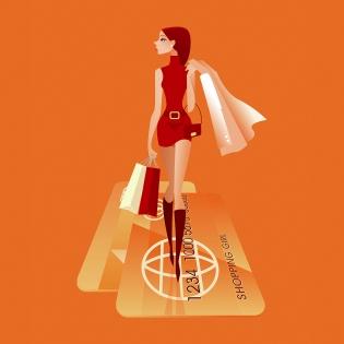Cuadro pop art chica de compras (bme085007)