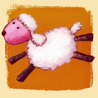 Cuadro infantil ovejita (bme090201)