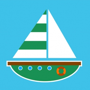 Cuadro velero infantil (bme160103)