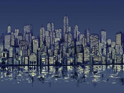 Cuadro Nueva York azul (bme170157)