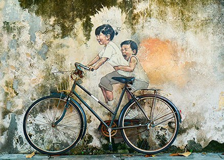 Cuadro bicicleta en mural (bpx0505)