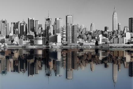 Cuadro Nueva york reflejo color (bgca1485)