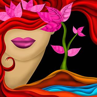 Cuadro rostro de mujer (bfl63693554)
