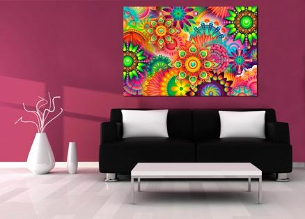 Cuadro abstracto flores sicodelicas (bpx0608)