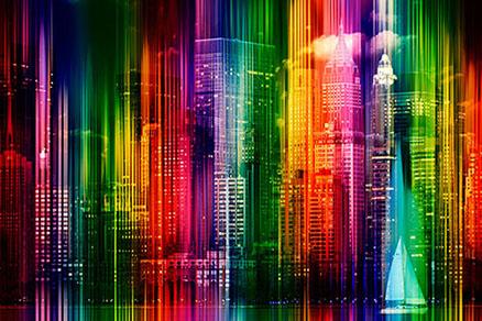 Cuadro Nueva York colores (bpx0029)