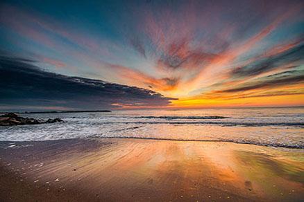Cuadro amanecer en la playa (bpx0315)