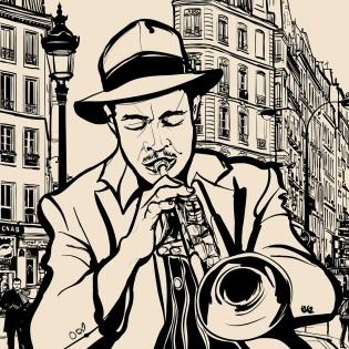 Cuadro trompetista (bfl58407628)