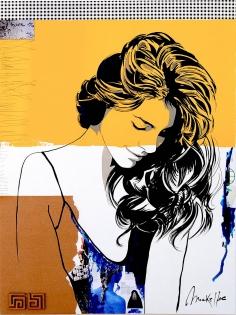Cuadro collage cara chica (bjlp006)