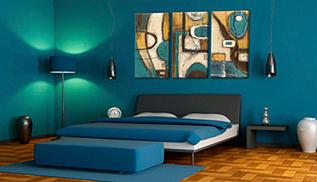 Cuadro abstracto azul modulares (bpka1-n1300-dkx)