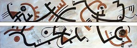 Cuadro abstracto díptico (bdga009)