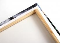 Ejemplo: tensado y grapado del lienzo
