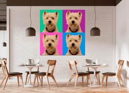 Cuadro perro colores pop (bgca0002)