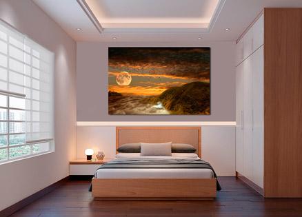 Cuadro la luna y la tierra (bpx0328)