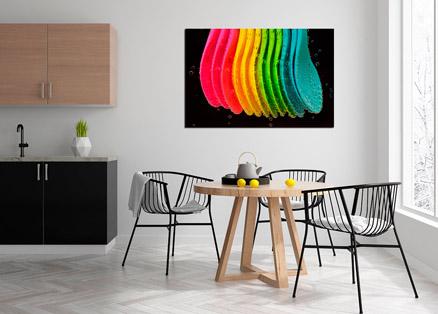 Cuadro cucharas de colores (bpx0409)