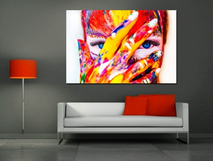 Cuadro cara de colores (bpx0501)