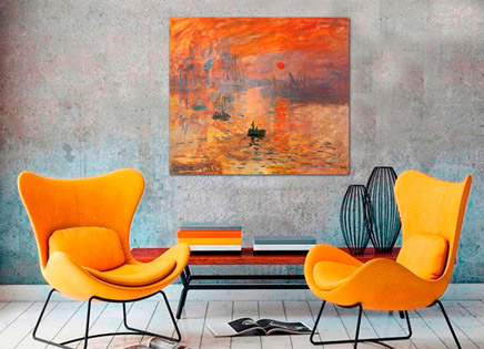 Cuadro impresion sol de Monet (bme050210)