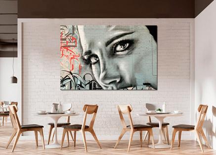 Cuadro Mujer arte urbano (bpx0512)