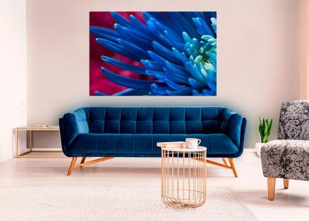 Cuadro flores azules (bgca0906)