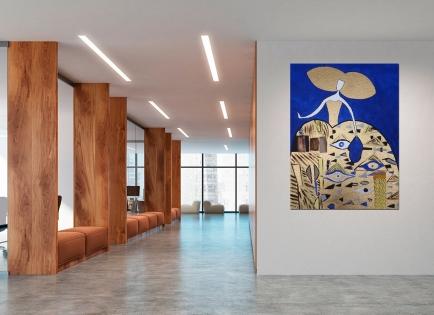 Cuadro Menina Klimt (bci1028)