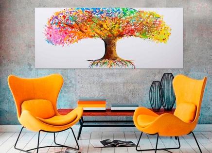 Cuadro arbol de colores (bci1090)