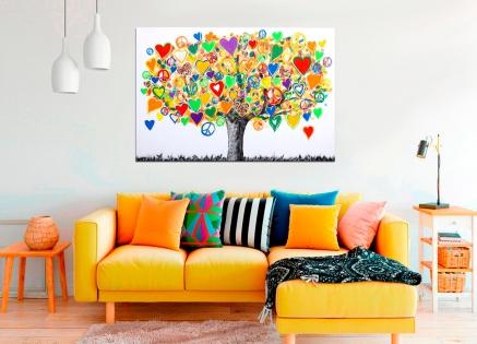Como combinar los cuadros con los colores de tu hogar