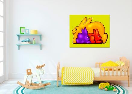 Cuadro infantil conejitos (bme160015)