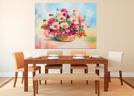 Cuadro cesta con flores (bfl72241893)