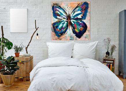 Cuadro mariposa colores (bjpd9777)