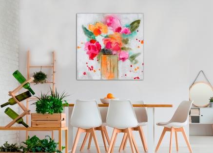 Cuadro jarrón con flores (b101)