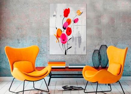 Cuadro tulipanes (b137)