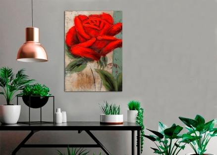 Cuadro flor roja (b143)