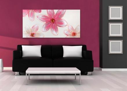 Cuadro flores rosa (b171)