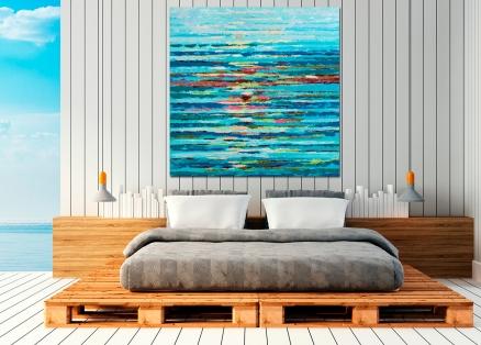 Cuadro reflejo de mar (b186)
