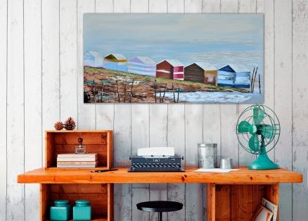 Cuadro casas de playa  (b23)