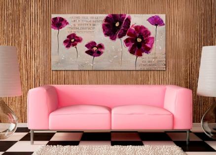Cuadro flores violeta (b30)